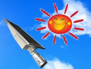 太陽とパネル